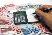 Calcolare i soldi — Foto Stock