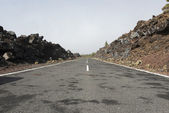 Road to el teide volcano — Stock Photo