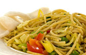 Diner dish with noodles — Stock Photo