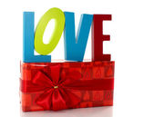Love with present — Stock Photo