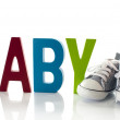 Baby sport shoes — Stock Photo