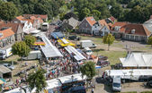 Weekly market in Renesse in Holland — Stock Photo