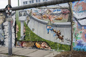East side gallery berlínská zeď — Stock fotografie
