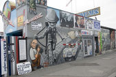 The East Side Gallery - the largest outdoor art gallery in the w — Stock Photo