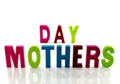 Mothers day text — Stock Photo