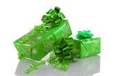Green present box — Stock Photo
