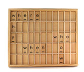 Conselho de educação de madeira — Foto Stock
