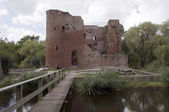 Old ruine from castel in Heenvliet Holland — Stock Photo