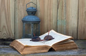 Old bible still life — Stock Photo