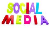 Mediów społecznych tekst — Zdjęcie stockowe