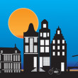 Amsterdam skyline — Stock Photo