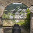 Canon from the castle of bouillon — Stock Photo