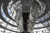 The Cupola on top of the Reichstag building in Berlin — Stock Photo