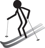 Man on ski — Stock Vector