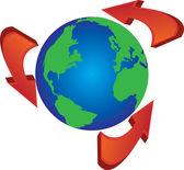 Recycle around the world — ストックベクタ