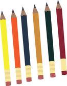Lápices — Vector de stock