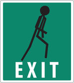 Green exit sign — Stock Vector