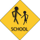 Sign for school children — Stock Vector