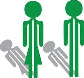 Man woman green — Stock Vector