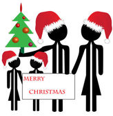 Family merry christmas — Stock Photo