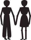 Couple in love — Stok Vektör
