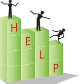 Pomoc — Stock vektor