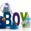 Stock Photo: Boy card