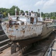 Stock Photo: Ship in the only working drydock in holland