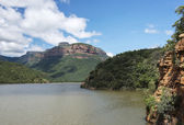 La diga di swadini vicino al fiume blyde — Foto Stock