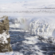 Gullfoss waterfall in winter — Stock Photo