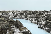 Blue lagoon in iceland — Stock Photo