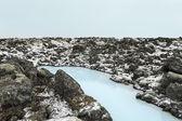 Laguna azul en islandia — Foto de Stock