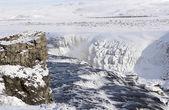 冬グトルフォスの滝 — ストック写真