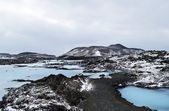 The Blue Lagoon geothermal bath resort in wnter — Stock Photo