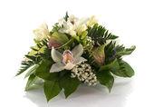 Blumenschmuck mit Lilys und Freesien — Stockfoto