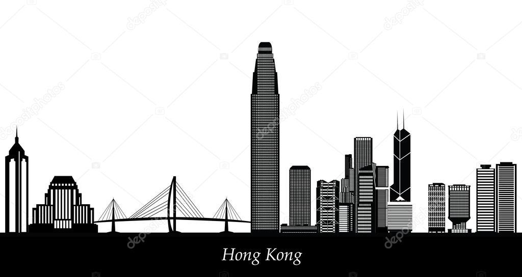 香港天际线 — 图库矢量图片#49280599
