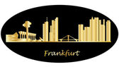 Frankfurt german city skyline — Stock Vector