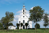 White christian church in holland — Stockfoto