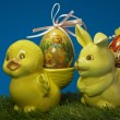 Easter duck and bunny — Stock Photo #9422983