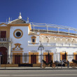 Entrance bull fight arena in Seville — Stock Photo