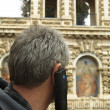 Man on audio tour - 
