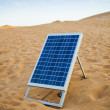 Solar panel in desert — Stock Photo
