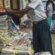 Newspaper stand in Kandy — Stock Photo