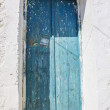 Old wooden blue door — Stock Photo
