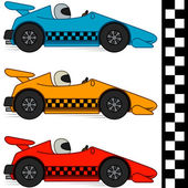 Racing Cars & Finishing Line — Stock Vector