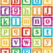 Vector Baby Blocks Set 2 of 3 - Small Letters Alphabet — Stock Vector