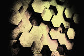 Background from hexagons. — Stock Photo
