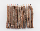 Set of wooden color pencils — Fotografia Stock