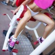 Stock Photo: Girl in fitness center