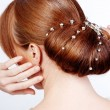 Bride hairstyle - Foto Stock